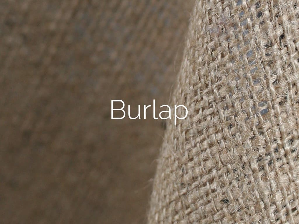 Faux Burlap Natural Burlap