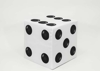 Block Cover - White Dice