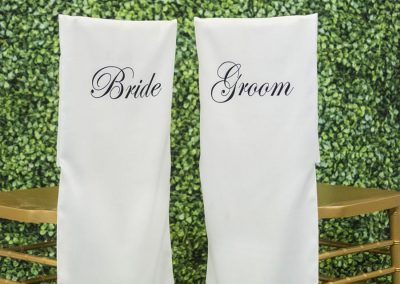 Chair Back - Bride / Groom