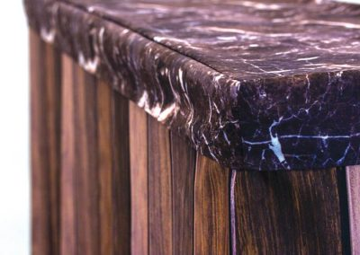 Bar Cover - Dark Wood Bar / Tinted Marble Cap