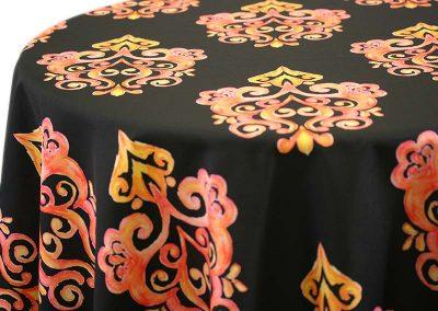 Prato - Orange on Black
