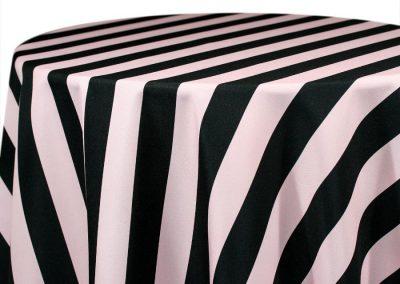 Hudson Stripe - Black / Premier Rose