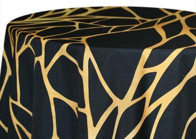 Shattered - Gold on Black