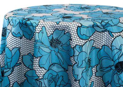 Big Lace Floral - Baby Blue