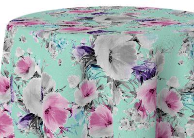 VIntage Floral - Aqua