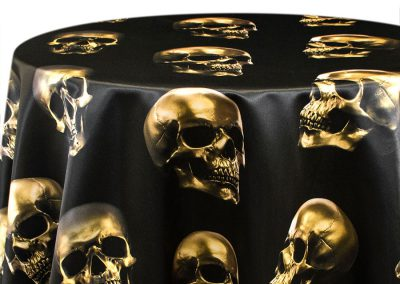 Skulls - Gold on Black